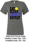 EAT SLEEP SOFTBALL REPEAT UNISEX T