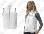 Women's Puffer Vest - White