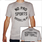 Gray Crew w/McCarren Softball - FREE SHIPPING