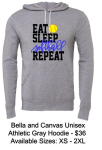EAT SLEEP SOFTBALL REPEAT UNISEX HOODIE