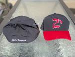 Stretchfit 2's Ball Cap - Black with red brim