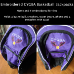CYGBA Basketball Backpack