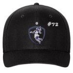 Black Fitted Cap-Amazons Logo (Jersey # optional)