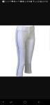 Demarini Intensity White Pant w/ Royal blue piping