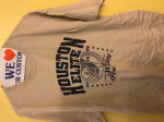Houston Elite T Shirt Khaki/Navy Blue Print