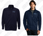 Men's Solid Navy Full Zip