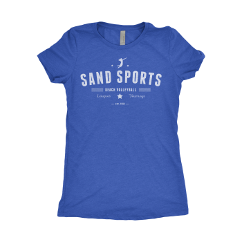 Sand Sports Ladies BlueTee