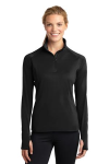 Ladies 1/4 Zippered Pullover