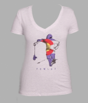 POWLAX Woman's V-Neck T-Shirt