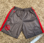 Gray with Red Stripe Game Shorts