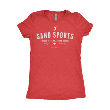 Sand Sports Ladies Red Tee