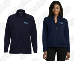 Women's Solid Navy Full Zip
