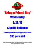 SpringBreak Bring a Friend to Camp Wednesday 3/28