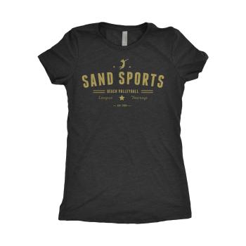 Sand Sports Ladies Black Tee