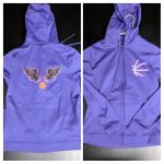 Women's Purple Zippered CYGBA Logo Hoodie