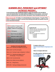 Lacrosse Summer Clinics - Fast and Slow Breaks
