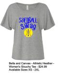 Softball Swag  Slouchy T Grey