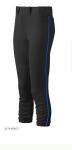 Demarini Intensity Black pants w/ Royal Piping
