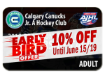EARLY BIRD - ADULT 2019-20 Season Ticket
