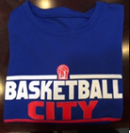 Basketball City Block Letter T-Shirt (Long Sleeve)