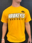 Gold Cotton Hawkeye Baseball T-Shirt