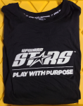 Upward Stars Black Long Sleeve T-shirt