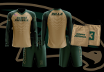 Custom Long Sleeve Warm Up Shirt, Shorts and Bag