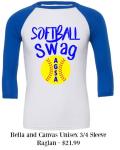 Softball Swag Raglan T