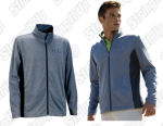 Men's Heather Navy Full Zip
