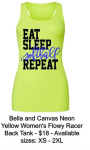 EAT SLEEP SOFTBALL REPEAT NEON TANK