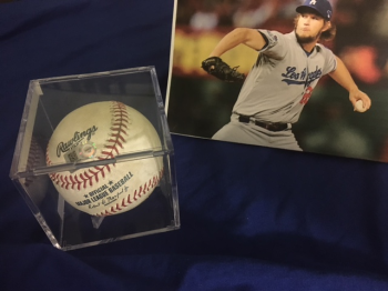 Kershaw Pitched Ball 10 Raffle Tickets for $5.00