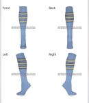 COLUMBIA BLUE STRIPED SOCKS