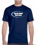 2019 Girls' Practice T-shirt Navy (Baby Blue Logo)