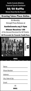 50/50 Raffle Ticket
