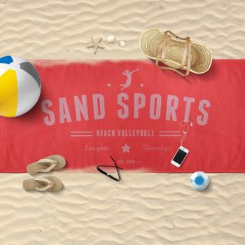 Sand Sports Beach Towel