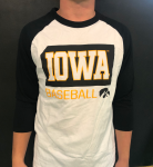 White Quarter Sleeve Iowa Baseball