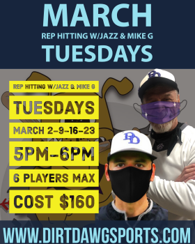 March Tuesdays Rep Hitting w/Jazz & Mike G