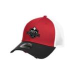 Black/Scarlet Vintage Mesh Cap New Era (FITTED)