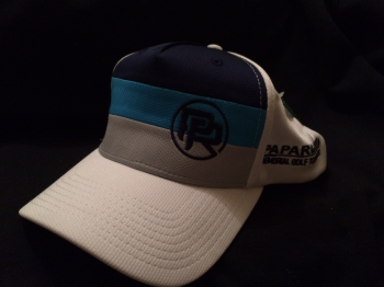 Papa Russi Hat White with Gray, Blue and Navy