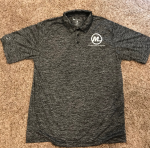 Polo Shirt  - Black Heather