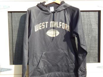 Women's Glitter Football Dri-Fit Hooded Sweatshirt