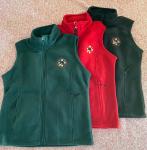 Women's Polar Fleece Vest (Red) - L