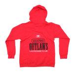 Alcatraz Outlaws Woman's Zip Hoodie Red