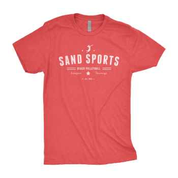 Sand Sports Men's Red Tee