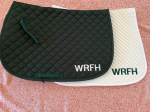White WRFH Saddlepad