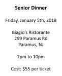 Senior Dinner