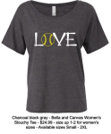 LOVE SLOUCHY T CHARCOAL