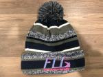 Girls Winter Hat Neon Pink FLG Logo