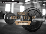 Intro to Weight Training Kids 12-14yrs