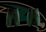 Custom Green Warm up Shorts